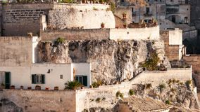 Matera, European Capital of Culture 2019. Basilicata, Italy. Matera, european capital of culture . a city built on the famous stones, carved rocks to obtain stock footage