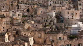 Matera, European Capital of Culture 2019. Basilicata, Italy. Matera, european capital of culture . a city built on the famous stones, carved rocks to obtain stock video footage
