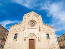 Matera europeisk huvudstad av kultur 2019: Domkyrkan arkivfoton