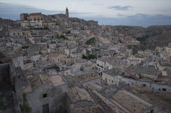 Matera, first lights Stock Images