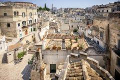 Matera historisk mitt UNESCOvärldsarv, europeisk huvudstad av kultur 2019 Basilicata Italien royaltyfri foto