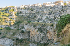 Matera houses in rocks Royalty Free Stock Photo