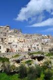 Matera i Italien Arkivfoto