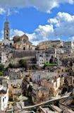 Matera i Italien Arkivbilder