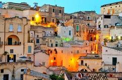 Matera Italië stock afbeelding