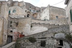 Matera, Italian city in Basilicata region stock photography