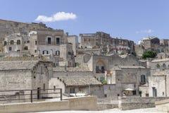 Matera, Italien: Alte Stadt von Matera, Sassi di Matera, Basilikata stockbild