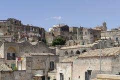 Matera, Italien: Alte Stadt von Matera, Sassi di Matera, Basilikata lizenzfreies stockbild