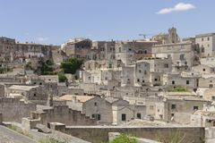 Matera, Italien: Alte Stadt von Matera Sassi di Matera, Basilikata stockbild