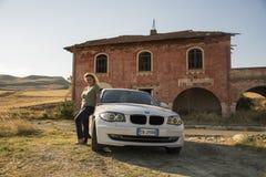Matera Italien Juli 30 2017 Personbil 1 bmw-serie land Arkivfoton
