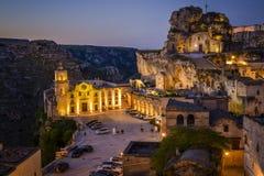 Matera, Italien morgens Lizenzfreies Stockfoto