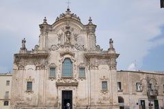 Church of San Francesco in Matera, Italy stock photo
