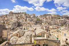 Matera, Italy. Beautiful panoramic view of Sassi di Matera, Italy Stock Image