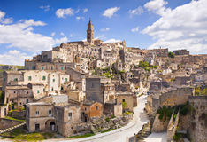 Matera, Italy. Beautiful panoramic view of Sassi di Matera, Italy Royalty Free Stock Photos