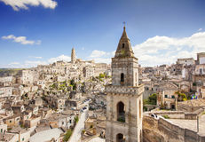 Matera, Italy. Beautiful panoramic view of Sassi di Matera, Italy Stock Photos