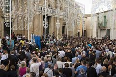 Matera,Italy- September 16, 2017: Religious procession devoted t Stock Images