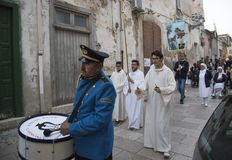 Matera,Italy- September 16, 2017: Religious procession devoted t Stock Photo