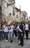 Matera,Italy- September 16, 2017: Religious procession devoted t. O the Madonna of St. Euphemia in Irsina province of Matera Stock Image