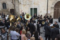 Matera,Italy- September 16, 2017: Religious procession devoted t Stock Photos