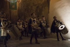 Matera,Italy- September 16, 2017: Religious procession devoted t Royalty Free Stock Image