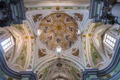 Interior of the Church of the Purgatorio in Matera Royalty Free Stock Image