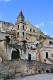 Matera Italy. Matera (Southern Italy) has gained international fame for its ancient town, the Sassi di Matera (meaning stones of Matera). The Sassi, originate Stock Image