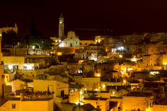 Matera in the night Royalty Free Stock Image