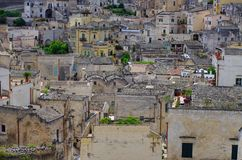 Matera. An old italian town. mess of houses Royalty Free Stock Photo
