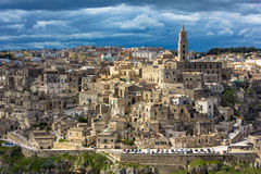 Matera. Panoramic view of the ancient city of Matera, UNESCO World Heritage site, Basilicata, Italy Stock Images