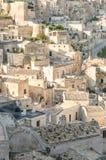 Matera rocks. A beautiful view of Matera Rocks in Basilicata, south Italy Royalty Free Stock Photo