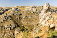 Matera rocks Stock Photo