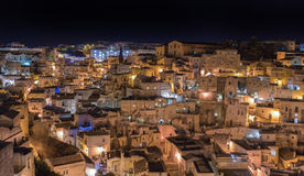 Matera`s Sassi - Italy Royalty Free Stock Images
