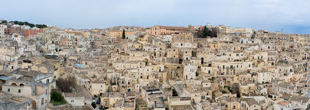 Matera`s Sassi - Italy Royalty Free Stock Photos