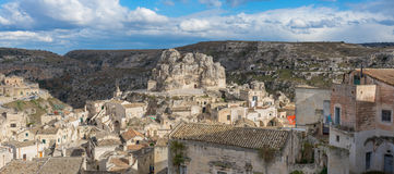 Matera`s Sassi panorama - Italy Royalty Free Stock Photography