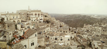 Matera`s Sassi panorama - Italy Stock Photos