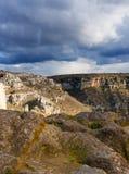 Matera`s Sassi panorama - Italy Royalty Free Stock Photo