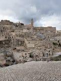 Matera`s Sassi panorama - Italy Royalty Free Stock Images