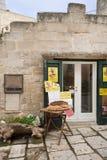 Matera`s Sassi shop- Italy Royalty Free Stock Photo