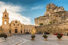 Matera Sassi и старый городок, Базиликата, Италия Стоковое фото RF