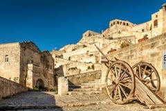 Matera Sassi и старый городок, Базиликата, Италия Стоковая Фотография RF