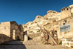 Matera Sassi, область Базиликаты, Италия Стоковые Фото