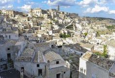 Matera Sassi in Basilicata, Italië Stock Foto