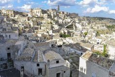 Matera Sassi in Basilicata, Italy Stock Photo