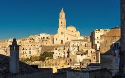Matera Sassi und alte Stadt, Basilikata, Italien Stockbilder