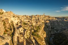 Matera Sassi y ciudad vieja, Basilicata, Italia Fotos de archivo