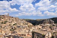 Matera stad, Italien arkivfoton