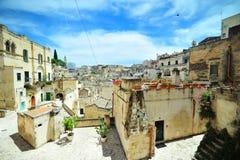 Matera-Stadt Süden von Italien Stockbild