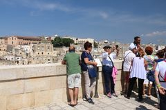 Matera turister, Italien royaltyfri fotografi