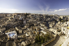 Matera view from balcony Stock Photo