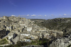 Matera view from balcony Royalty Free Stock Photos